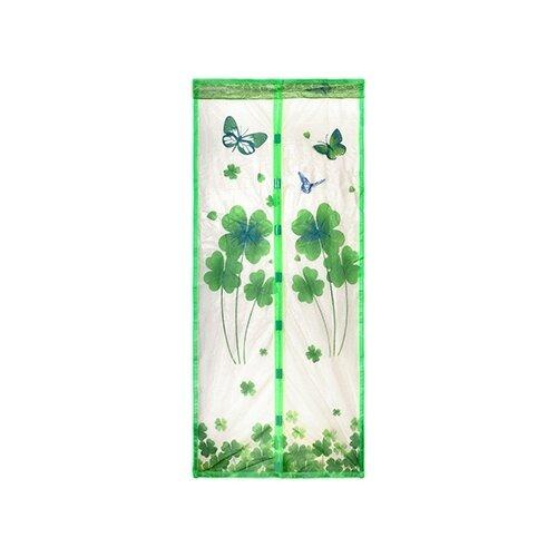 Сетка Help Boyscout дверная с магнитным замком противомоскитная с крепежной лентой 45х210 см, зеленый сетка противомоскитная для окон help 130х150 см