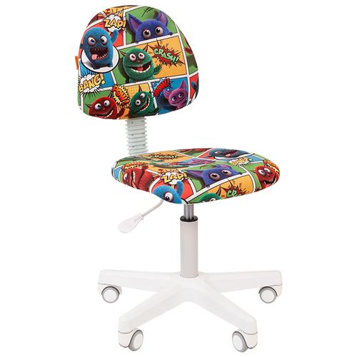 Фото - Компьютерное кресло Chairman Kids 104 детское, обивка: текстиль, цвет: монстры компьютерное кресло chairman kids 101 детское обивка текстиль цвет монстры