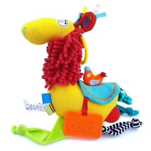 Развивающая игрушка Dolce Активная Лама, голубой/красный/желтый развивающая игрушка dolce попугайчик бело красно голубой