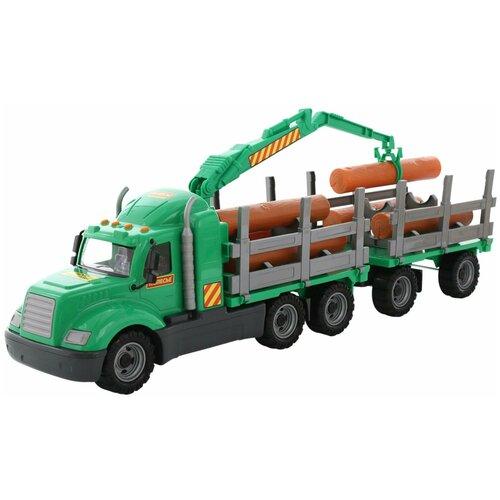 Купить Лесовоз Wader с прицепом Майк (55675), 85 см, Машинки и техника