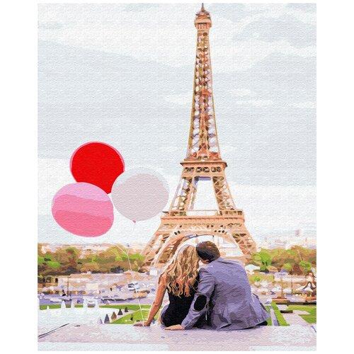 Купить Картина по номерам ВанГогВомне Париж и шарики 40х50 см, ВанГогВоМне, Картины по номерам и контурам