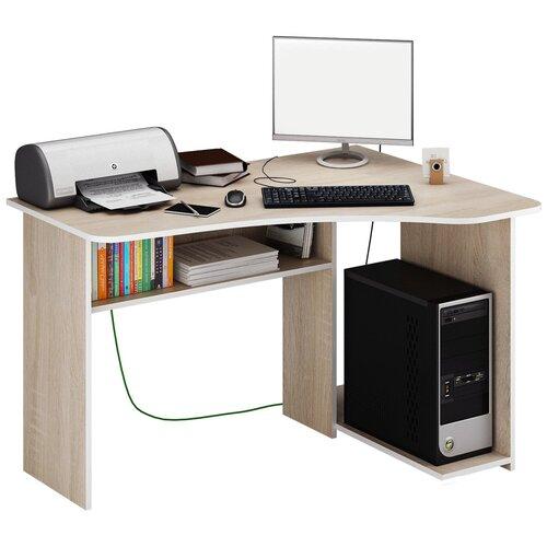 Фото - Компьютерный стол угловой MfMaster Триан-1, ШхГ: 120х90 см, угол: справа, цвет: дуб сонома правый стол компьютерный триан 1