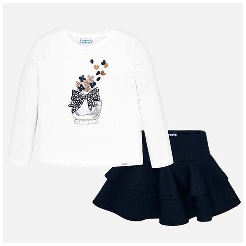 Комплект одежды Mayoral размер 5(110), белый/синий комплект одежды mayoral размер 110 белый красный