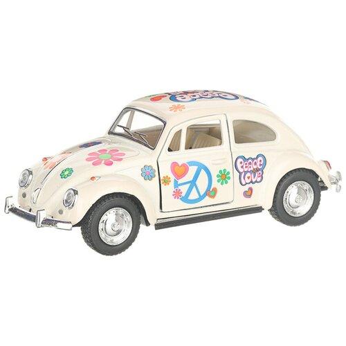 Купить Легковой автомобиль Serinity Toys 1967 Volkswagen Classical Beetle (5375DFKT) 1:32, 12.5 см, белый, Машинки и техника
