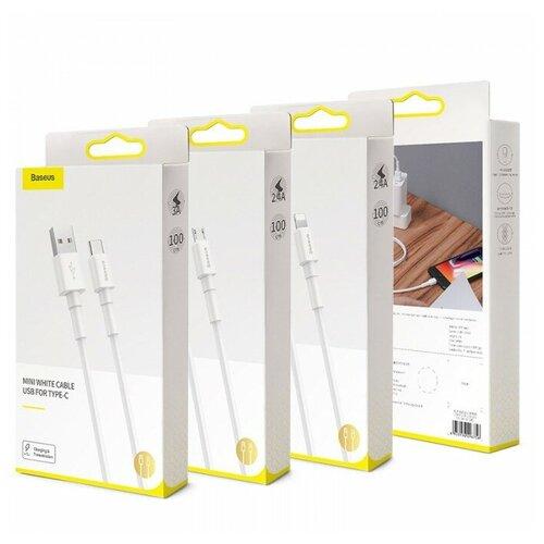 Кабель Baseus Mini White Cable USB For Micro-USB (20w) (CAMSW-C02) (0.5м) аксессуар baseus mini white usb microusb 4a 1m white camsw d02