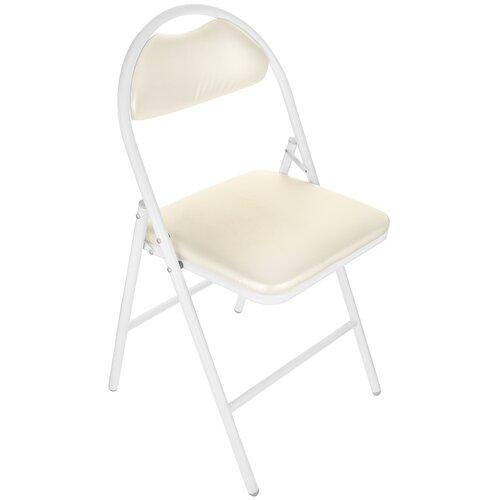Стул KETT-UP Практик Plus, металл/искусственная кожа, цвет: белый/жемчуг стул kett up picnic eco дерево цвет беленый