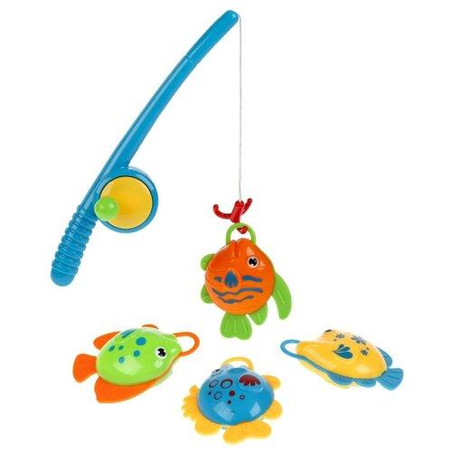 Рыбалка Играем вместе Три кота B1364086-R синий/желтый/зеленый/оранжевый игрушки для ванны играем вместе игра рыбалка три кота k095 h19006 r