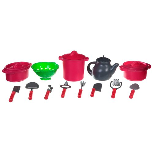 Набор посуды Shenzhen Toys Kitchen Set B2011-3 Д59559 красный/серый набор доктора shenzhen toys 602a