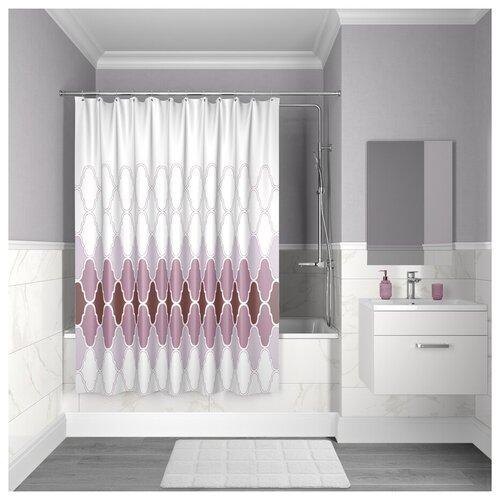 Штора для ванной комнаты, 200*180см, полиэстер, D06P218i11, IDDIS
