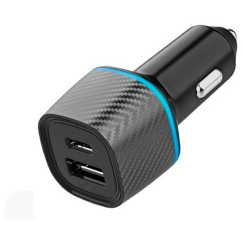 Фото - Зарядное устройство Krutoff CCH-03 1xUSB QC 3.0 + PD Type-C 36W Black 03728 зарядное устройство ldnio a2502c 2xusb microusb pd qc 3 0 36w black ld b4356