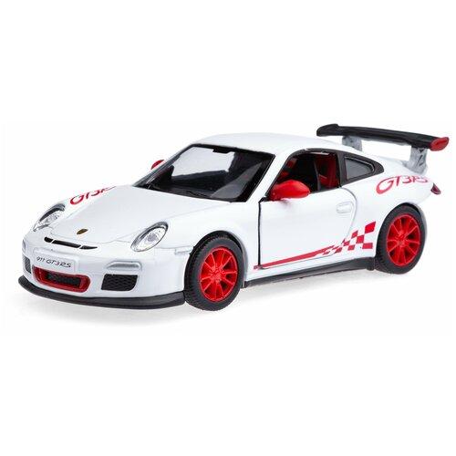 Купить Детская игрушечная коллекционная металическая модель машинки игрушки Kinsmart 2010 Порше 911 GT3 RS (металлическая, инерционная) белый 1:36, Машинки и техника