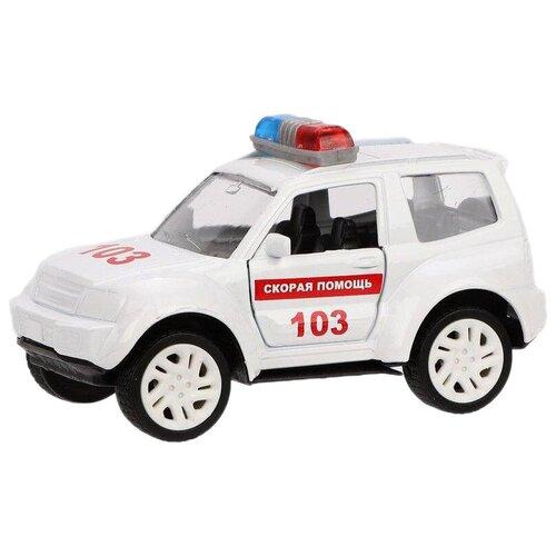 Фото - Легковой автомобиль Пламенный мотор 870359, 9 см, белый эвакуатор пламенный мотор 870364 13 см белый
