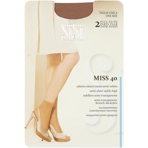 Капроновые носки Sisi Miss 40 Den New, 2 пары, размер 0 ( one size), miele