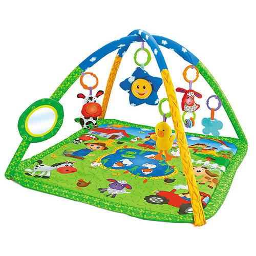 Купить Развивающий коврик Funkids Happy Farm Gym (27295), Развивающие коврики