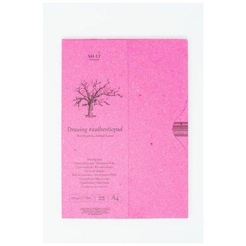 Купить Альбом SM-LT Authentic Drawing в папке А4 60л 120 г/м2 белый, склейка PA-60, Smiltainis, Альбомы для рисования