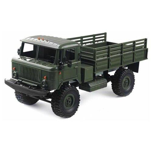 Радиоуправляемая машина MN MODEL ГАЗ-66 грузовая (зеленая) 4WD 2.4G 1/16 RTR - MN-66C