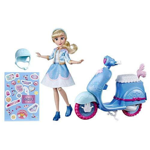 Кукла Hasbro Disney Princess Ральф против интернета Комфи Золушка на скутер, E8937