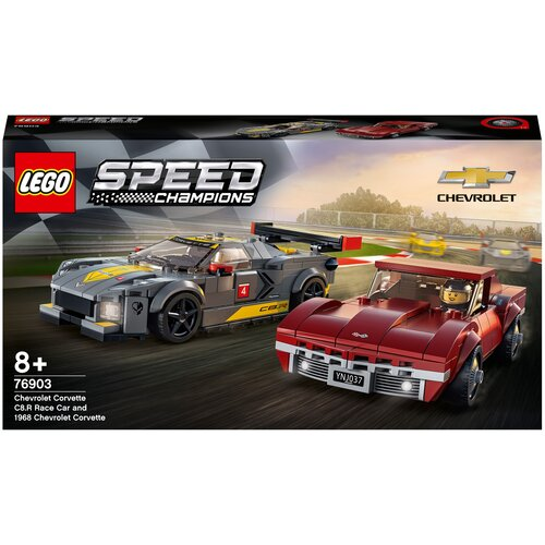 Фото - Конструктор LEGO Speed Champions 76903 Chevrolet Corvette C8.R Race Car and 1968 Chevrolet Corvette lego lego speed champions mopar dodge srt dragster and 1970 dodge challenger t a