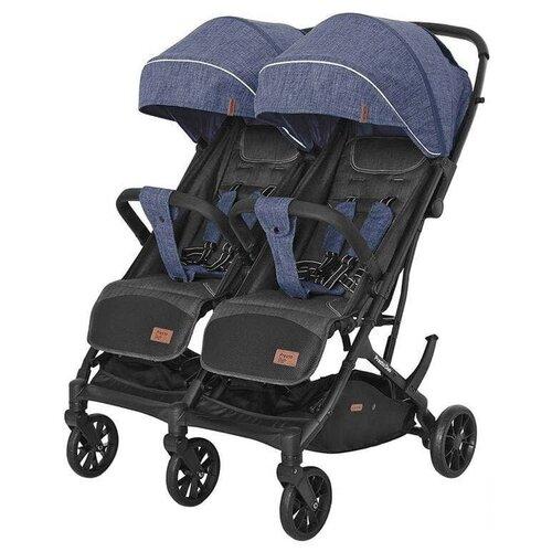 Купить Прогулочная коляска для двойни CARRELLO Presto Duo CRL-5506, oxford blue, Коляски