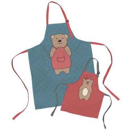 Комплект фартуки парные семья Медведица и дочь медвежонок sfer.tex 1766734