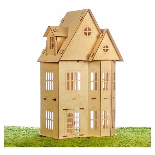 Деревянный кукольный домик - Теремок