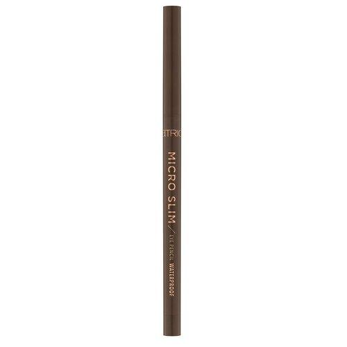 Фото - CATRICE карандаш для глаз Micro Slim Eye Pencil Waterproof, оттенок 030 brown precision ga de карандаш для глаз high precision eye liner оттенок 02 brown