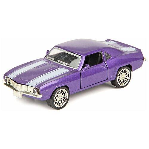 Купить Легковой автомобиль Hoffmann Muscle Car (55480) 1:36, 12 см, фиолетовый, Машинки и техника