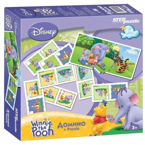 Настольная игра Step puzzle Домино Медвежонок Винни и Слонотоп (Disney) недорого