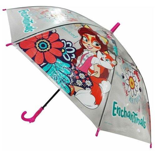 Зонт Играем вместе розовый/красный/зеленый