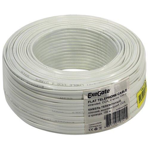 Сетевой кабель ExeGate Телефонный кабель CCA 4 провода Бухта