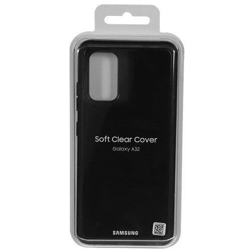 Фото - Чехол-накладка для Samsung Galaxy A32 Soft Clear Cover Black EF-QA325TBEGRU ультратонкая защитная накладка soft touch для samsung galaxy a32 с принтом улыбка чеширского кота черная