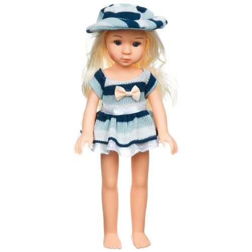 Купить Кукла BONDIBON Oly Очарование Блондинка в полосатом платье, 36 см, BB4369, Куклы и пупсы