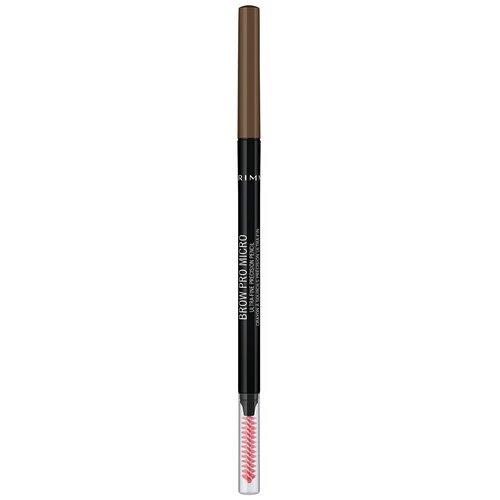 Купить Rimmel карандаш для бровей Brow Pro Micro Ultra-Fine Precision Pencil, оттенок 002 Soft Brown