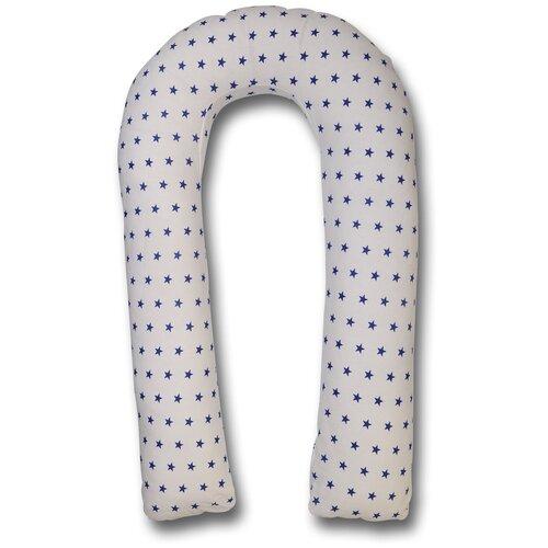 Фото - Подушка Body Pillow для беременных U холлофайбер, с наволочкой из хлопка белый в синих звездах подушка body pillow для беременных u холлофайбер с наволочкой из хлопка коричневый с бежевыми вензелями