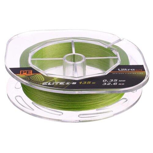 Леска плетёная Aqua Pe Ultra Elite Z-8, d=0,35 мм, 135 м, нагрузка 32,6 кг 2173945 по цене 418