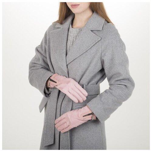 Перчатки жен, 23,5 см, утеплитель иск мех, манжет молния, розовый 5411373