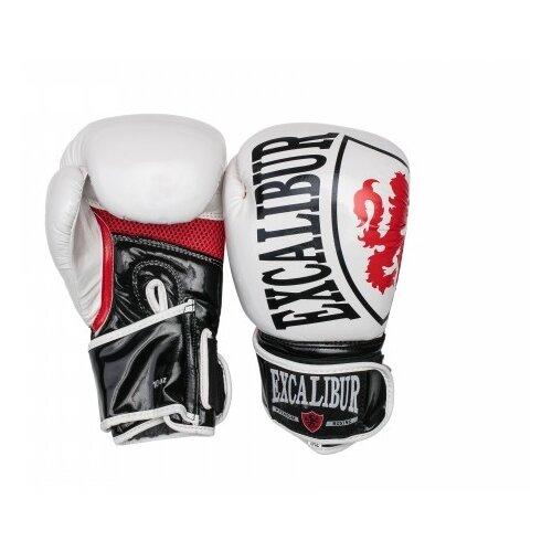 Перчатки боксерские Excalibur 8004-02 White/Black/Red PU 10 унций