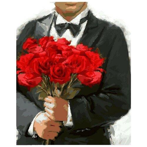 картины по номерам color kit картина по номерам розы для любимой Color Kit Картина по номерам Розы для любимой 40х50 см (CG796)