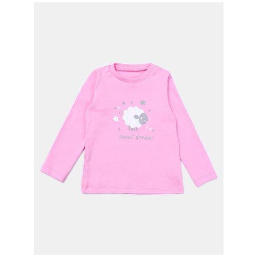 Купить 4191217 Джемпер (Лонгслив), КотМарКот, размер 128, Состав: хлопок 100%, цвет Розовый, KotMarKot, Футболки и майки