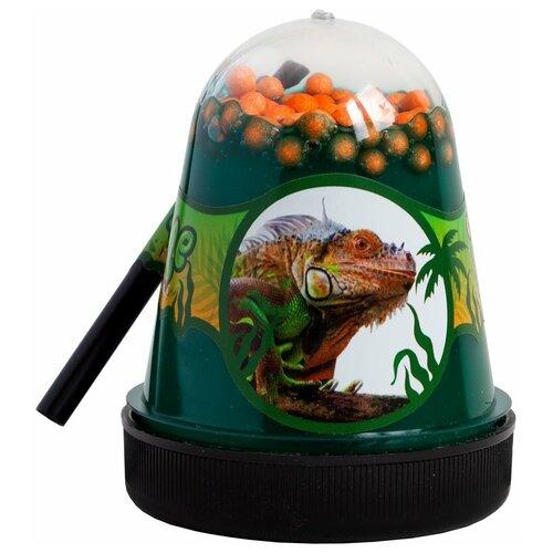 Лизун SLIME Jungle Игуана (S300-20) зеленый/оранжевый