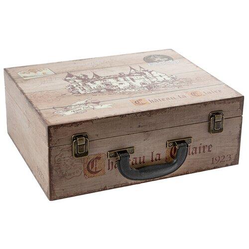 Сундук для хранения 3 бутылок 35*28*13см Русские подарки 47151