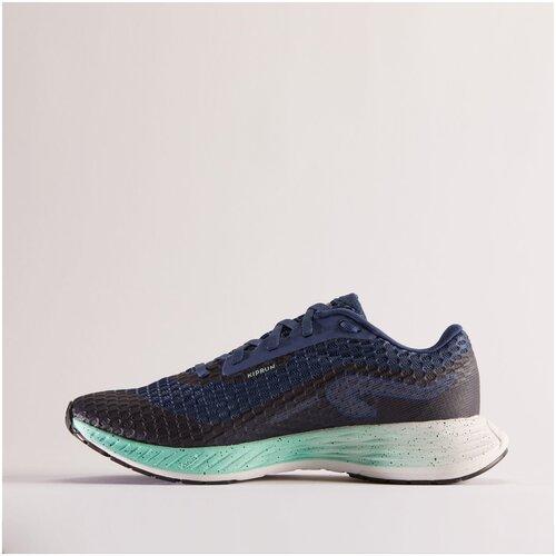Кроссовки для бега женские KIPRUN KD 500 сине-зеленые , размер: EU38, цвет: Китово-Серый/Пастельный Мятный KIPRUN Х Декатлон