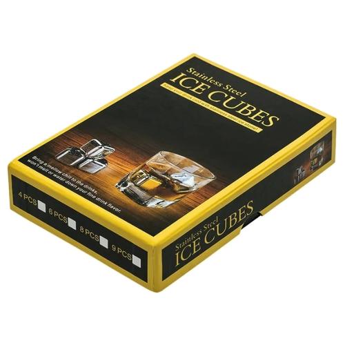 Охладители для напитков ANYGOODS Stainless Steel Ice Cubes 8 шт. серебристый