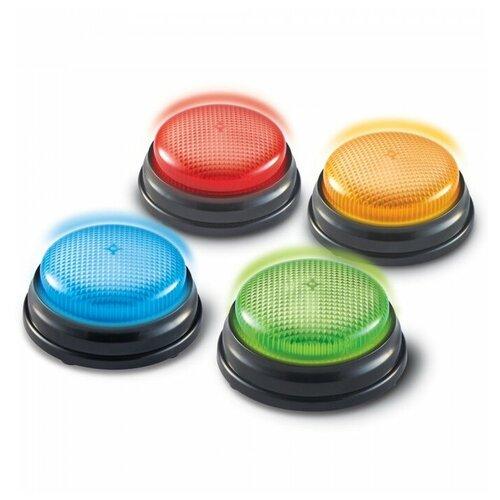 Развивающая игрушка Learning Resources Кнопки Lights and Sounds Buzzers, красный/желтый/синий/зеленый
