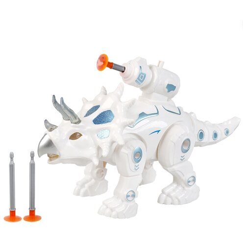 Купить Робот-динозавр Технодрайв на батарейках свет/звук, двигается, стреляет A1310058Q-B-R, Роботы и трансформеры