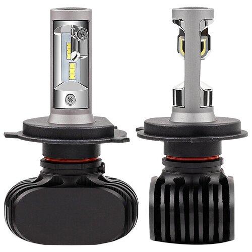 Лампа автомобильная светодиодная Vizant D5 цоколь H4 с чипом csp 2 шт.