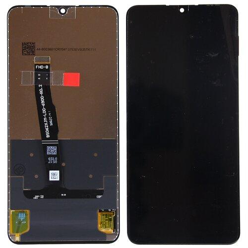 Дисплей для Huawei P30 Lite в сборе с тачскрином Черный - Premium