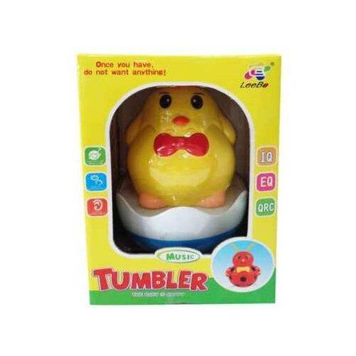 Купить Игрушка для малышей. Неваляшка, звуковые эффекты, 13x19x12см, Junfa toys, Неваляшки