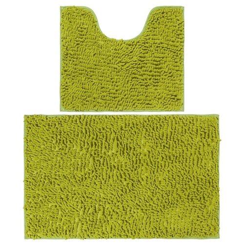 Фото - Комплект ковриков EL CASA 990356, 80х50 см и 50х45 см зеленый комплект el casa el casa mp002xu0e0zv