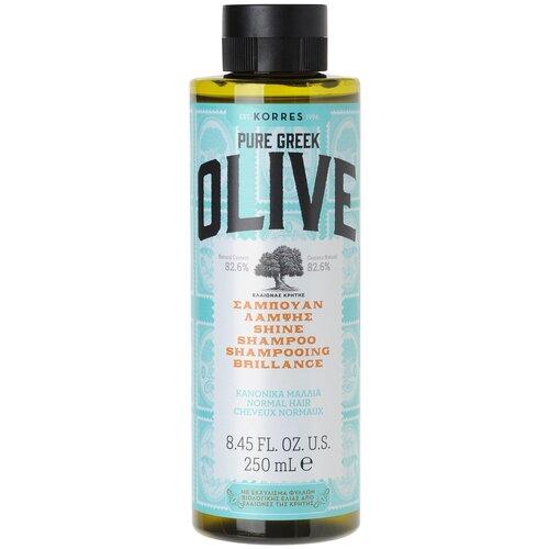 KORRES шампунь Pure Greek Olive придающий сияние для нормальных волос, 250 мл недорого